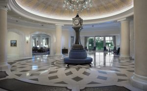 Waldorf Astoria lobby clock tower